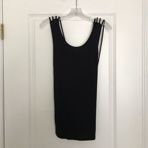 Tops - Black Open Back Strappy Top